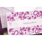 Invitación de boda violeta blanco Edima 100.671 detalle