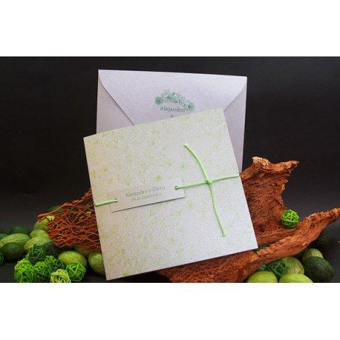 Silber und grün Hochzeitseinladung Edima 100.674