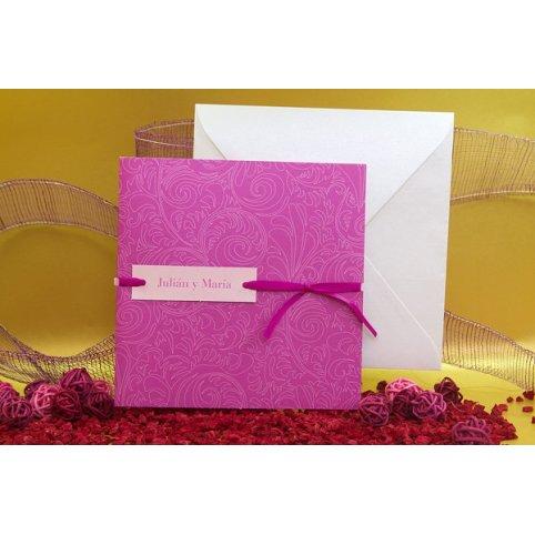 Invitación de boda blanca y lila Edima 100.502