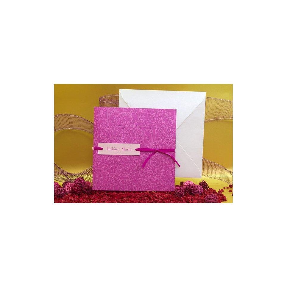 Partecipazione matrimonio bianco e lilla Edima 100.502