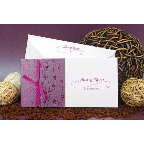 Invitación de boda jardín violeta Edima 100.667