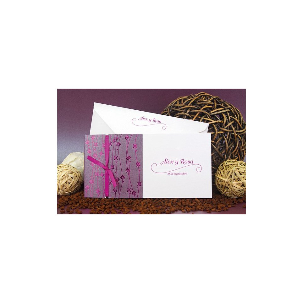 Edima Violet Garden Hochzeitseinladung 100.667
