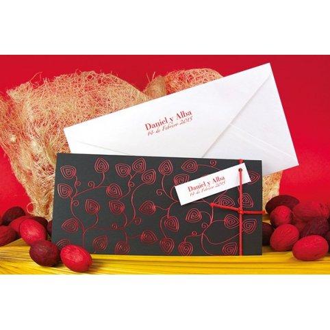 Wedding Invitation Red Leaves Edima 100,670