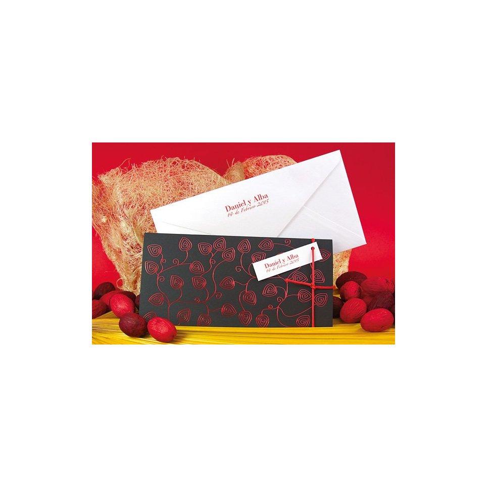 Partecipazione matrimonio foglie rosse Edima 100.670