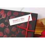 Invitación de boda hojas rojas detalle Edima 100.670
