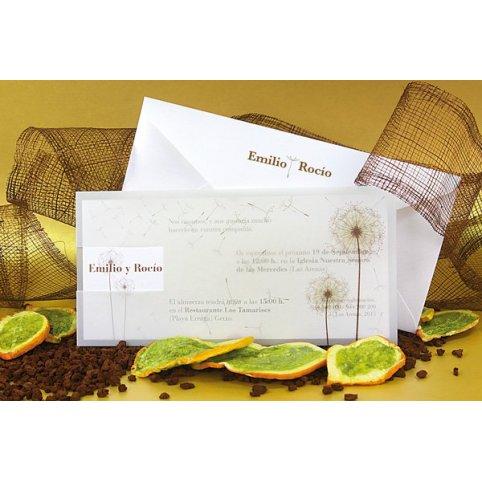 Invitación de boda diente de león, Edima 100.528