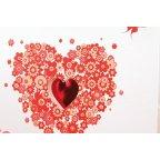 Invitación de boda corazón flores detalle Edima 100.512