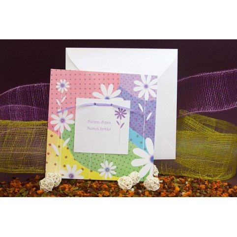 Invito a nozze con fiori colorati Edima 100.468