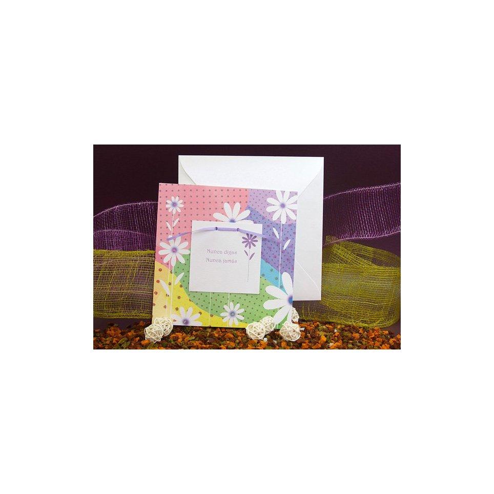 Invitación de boda flores colores Edima 100.468