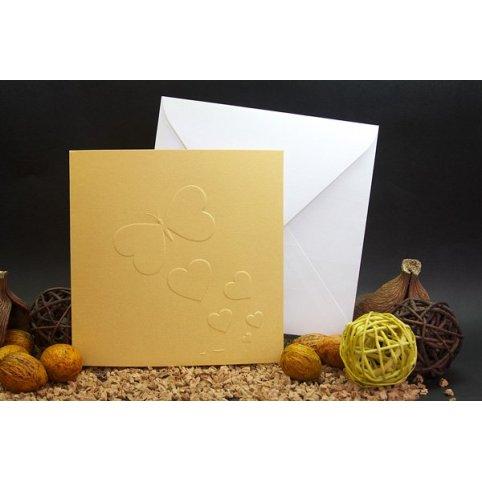 Invitación de boda mariposa oro Edima 100.681