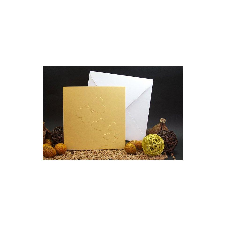 Partecipazione matrimonio farfalla oro Edima 100.681