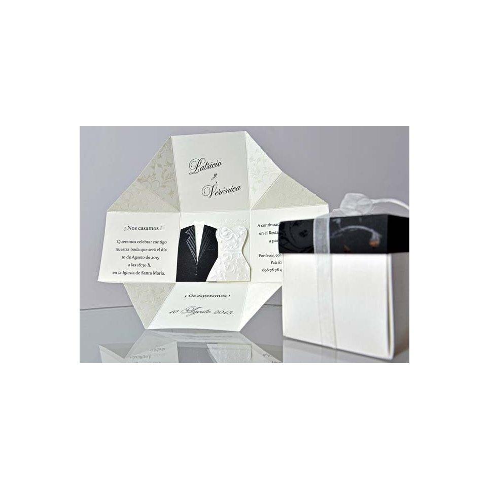 Hochzeitseinladungsbox Braut und Bräutigam Cardnovel 34951