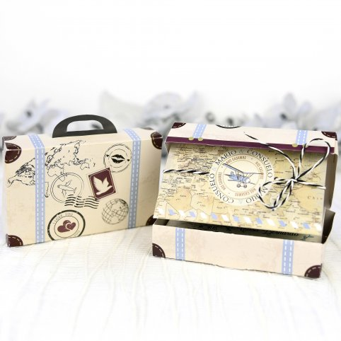 Invitation de mariage valise de voyage Cardnovel 39223