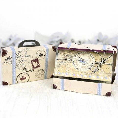 Hochzeitseinladungskoffer reisen Cardnovel 39223