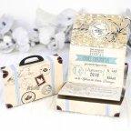 Wedding Invitation Suitcase Travel Cardnovel 39223 Open