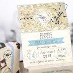 Wedding Invitation Suitcase Travel Cardnovel 39223 detail