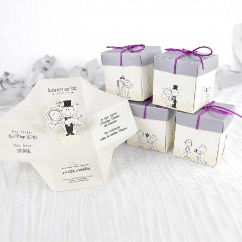 Hochzeitseinladungsbox Braut und Bräutigam Cardnovel 39211