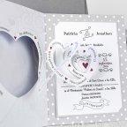 Hochzeitseinladung Braut und Bräutigam Cardnovel 39210 Spirale