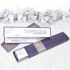 Biglietto d'invito scatola violanovel 39208