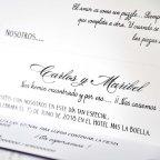 Cardnovel viola scatola invito 39208 testo