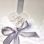 Invitación de boda corazón lazo Cardnovel 39204 detalle