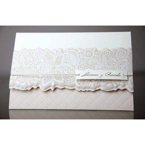 Invitación de boda friso floral Cardnovel 34935