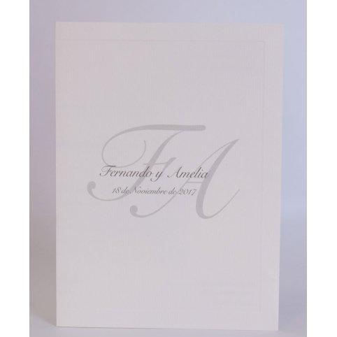 Invitación de boda clásica dorada Edima 100.546