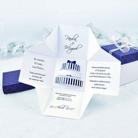 Invitación de boda caja de regalo, Cardnovel 39107
