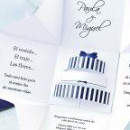 Invitación de boda caja de regalo, Cardnovel 39107 detalle