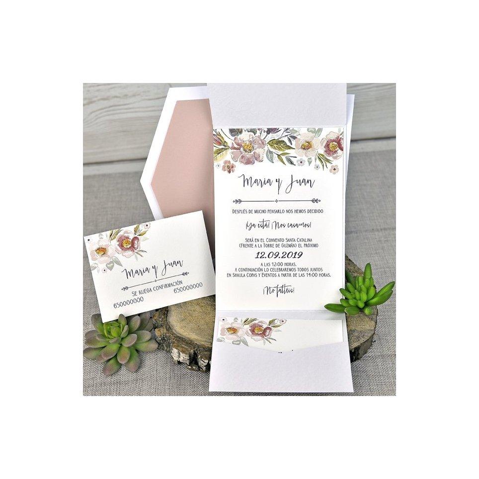 Tarjeta de agradecimiento flores Cardnovel 49312
