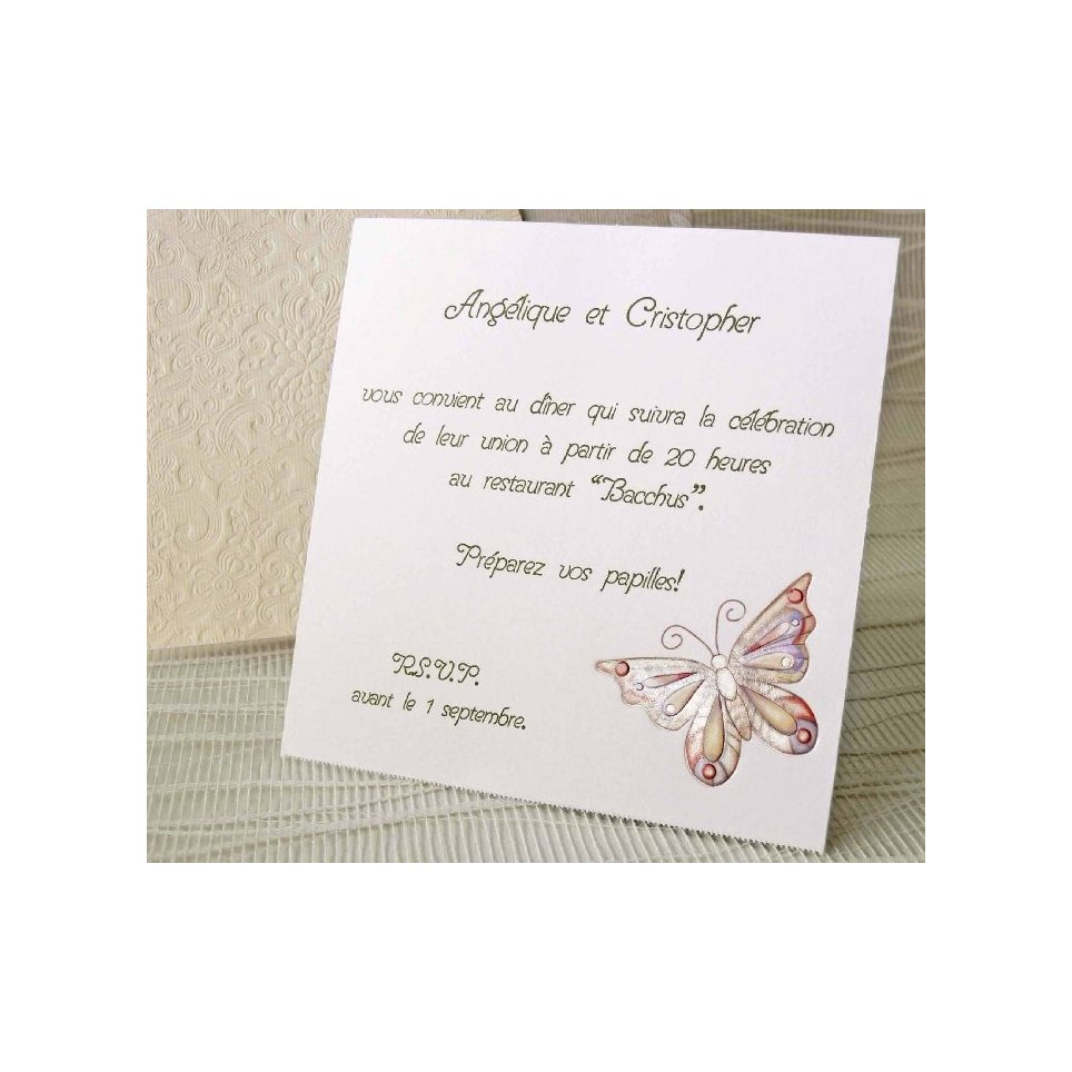 Butterfly thank you card Cardnovel 41307