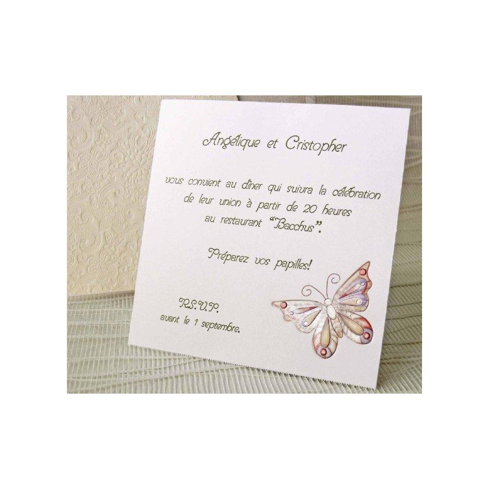 Tarjeta de agradecimiento mariposa Cardnovel 41307
