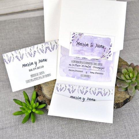 Tarjeta de agradecimiento nombres violeta Cardnovel 39311