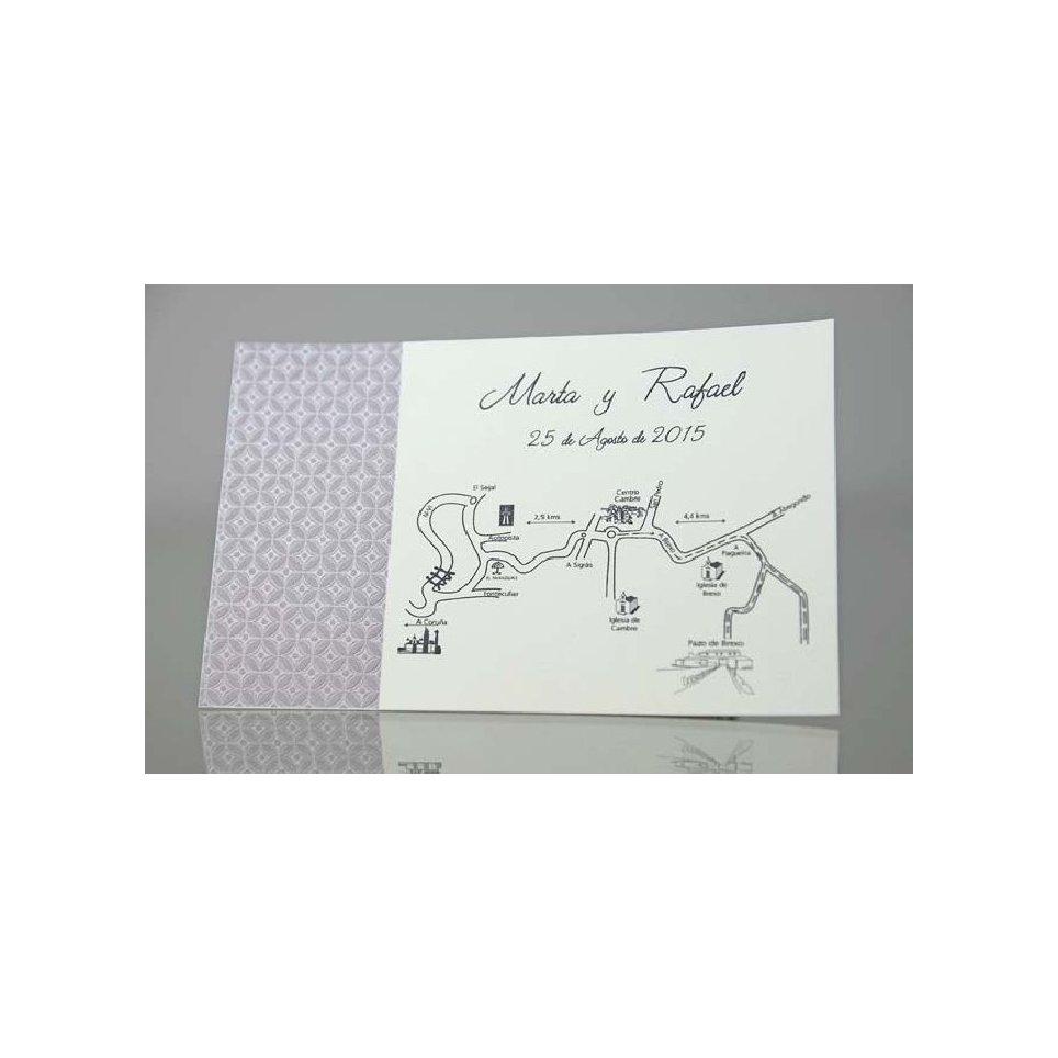 Tarjeta de agradecimiento violeta Cardnovel 44930