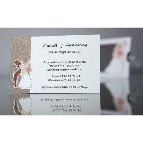 Biglietto di ringraziamento fidanzati bambini Cardnovel 44948
