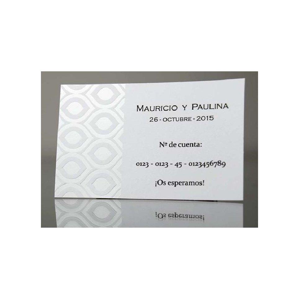 Biglietto di ringraziamento fiocco viola e perla, Cardnovel 44916