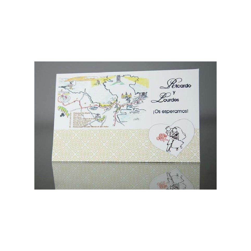 Tarjeta de agradecimiento historia de amor Cardnovel 44900