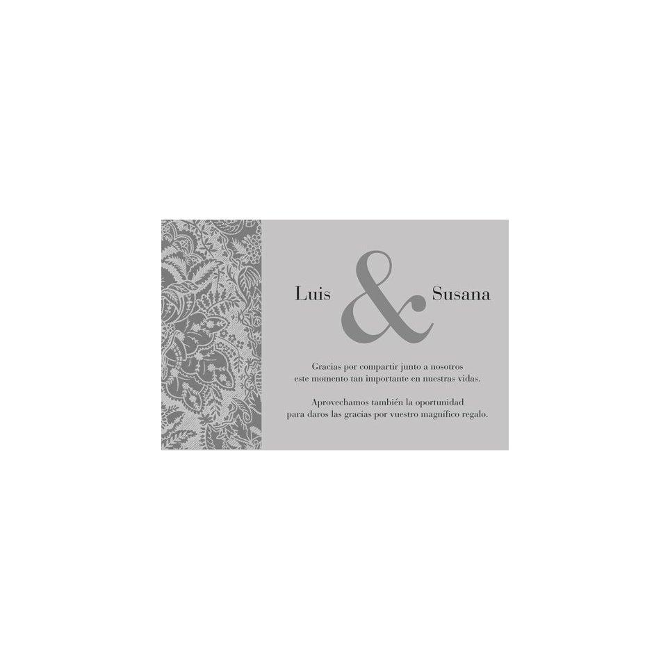 Tarjeta de agradecimiento flor plata, Edima 100.521