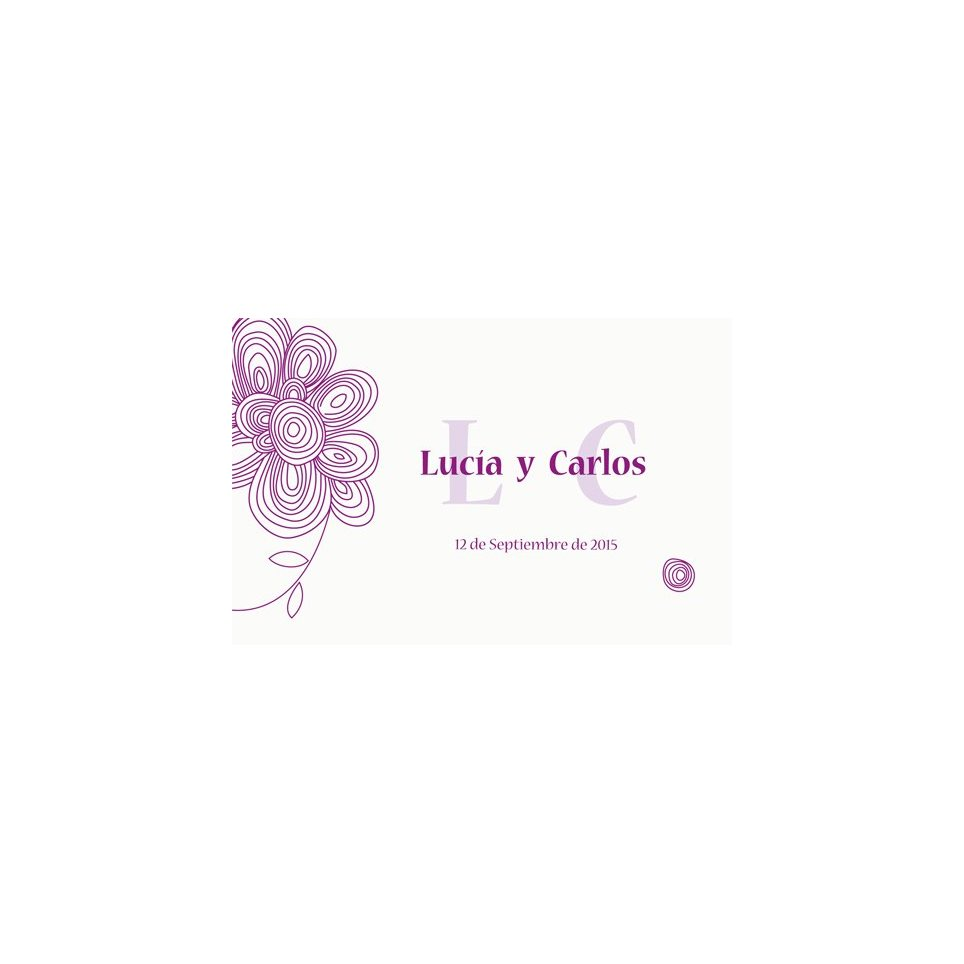 Violet thank you card Edima 150,524