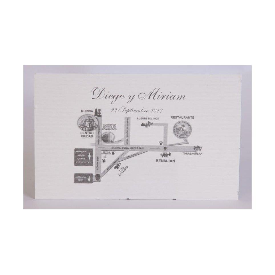 Tarjeta de agradecimiento clásica blanca Edima 150.054