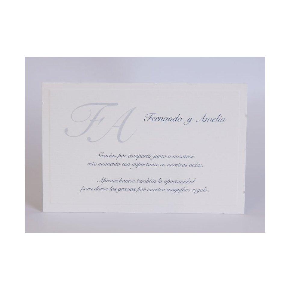 Edima Medium Blue Classic Dankeskarte 150.545