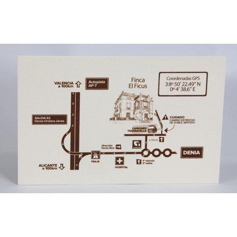 Edima braune Creme danke Karte 150.718