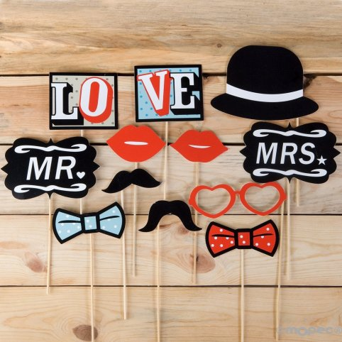 Set di 12 pezzi parrucchino VINTAGE WEDDING