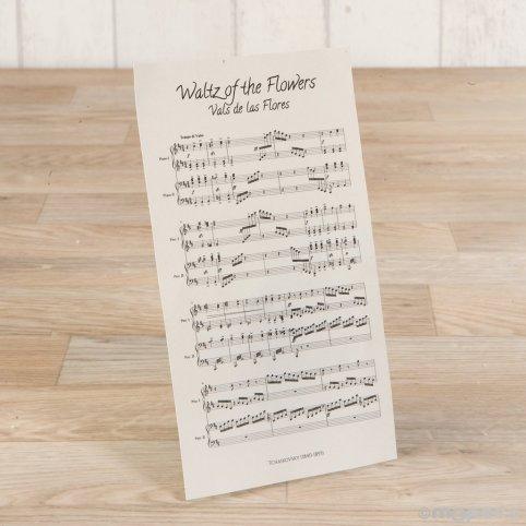 Score Flower Waltz 10.5X18.5cm.