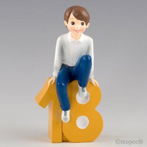 Figura pastel 18 aniver. chico camisa 20cm