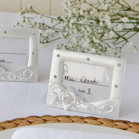 Portafoto Matrimonio Fiore Rosa 7x9cm.