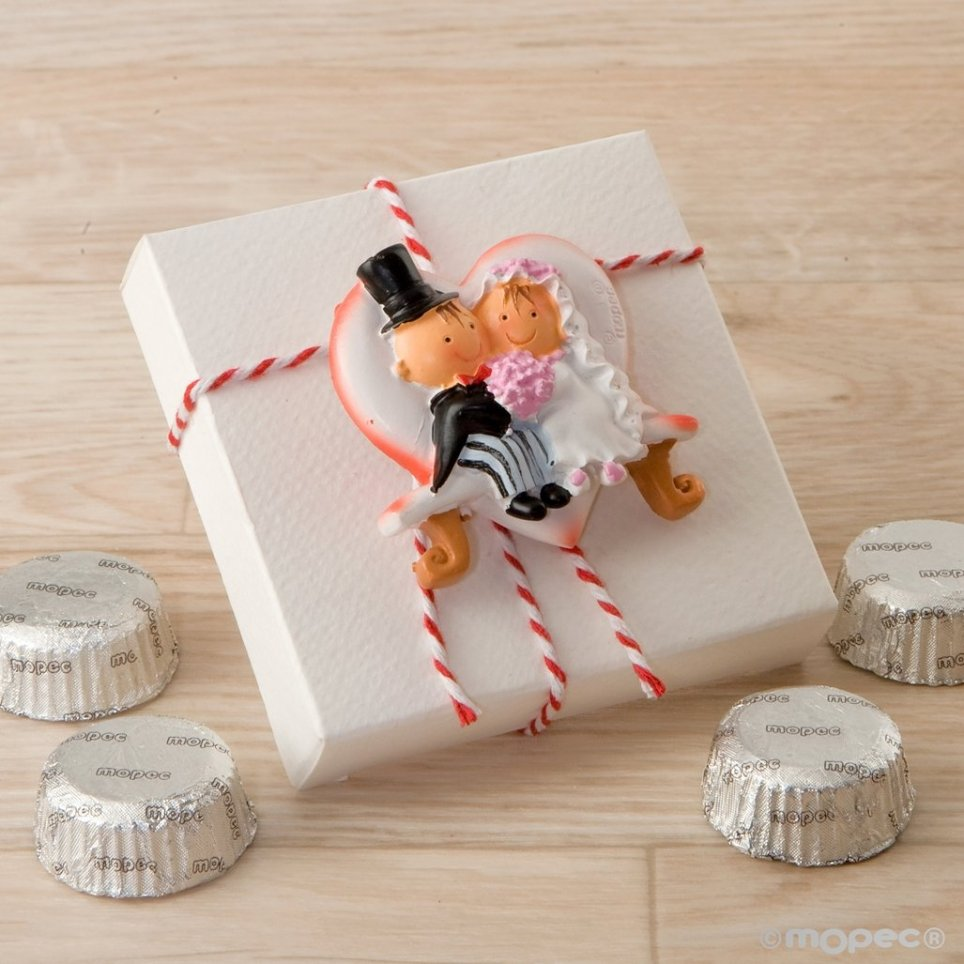 Confezione regalo Pit & Pita con calamita, panca a cuore e 4 cioccolatini