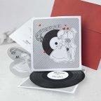 Invitación de boda disco vinilo, Cardnovel 39106 completa