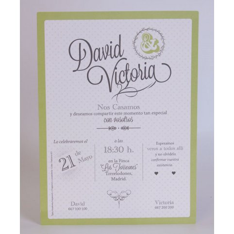 100,701 green Edima Wedding Invitation