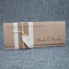Wedding Invitation kraft fabric Belarto 726071